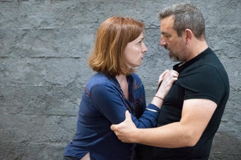 Image: Kirsty Besterman (Lady Macbeth) and Michael Nardone (Macbeth). Credit Richard Hubert Smith