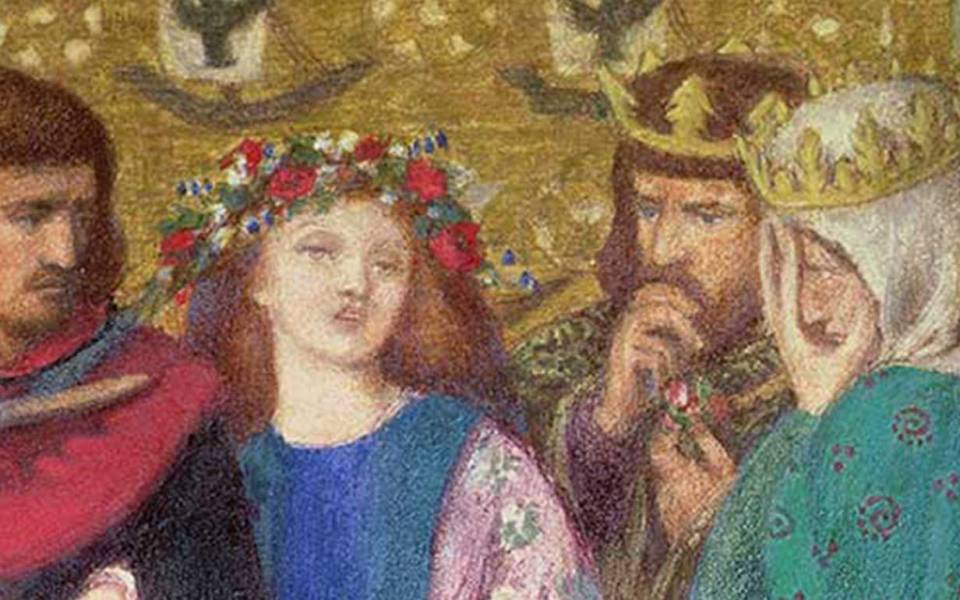 Dante Gabriel Rossetti 'The First Madness of Ophelia' 1864. Courtesy of Gallery Oldham
