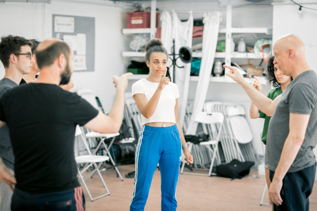 Image: Sophie Mercell in rehearsal for 'All You Need is LSD.' Photo credit: Benkin Photography