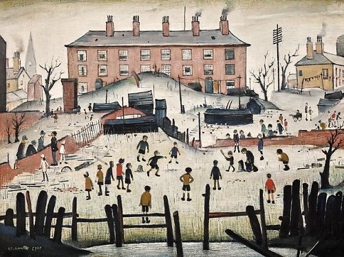 A Cricket Match by LS Lowry