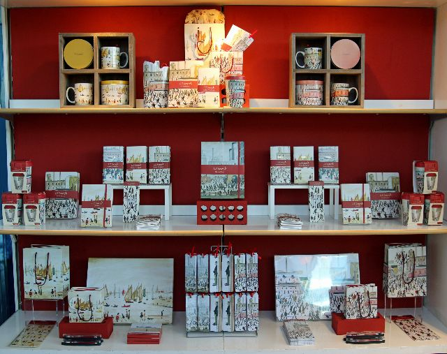 An image of products displayed in The Lowry Shop